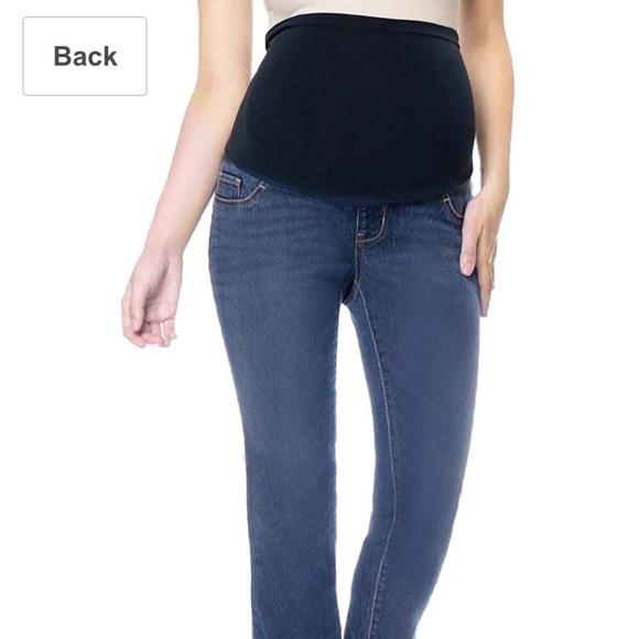 7e3acfb15ae Liz Lange for Target Denim - Liz Lange Maternity Bootcut over the belly  Jeans